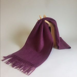 New Charter Club 100% Cashmere Purple Scarf